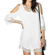 Lace Casual Above Knee, Mini Shirt Dresses