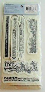 Cloud 9 Rubber Cling Stamps WORD BORDERS !!