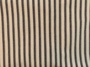 NEW BLACK Striped Bed Ticking Fabric - Material Sold by the Yard