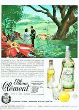 PUBLICITE ADVERTISING 036  1965  le rhum Clément de la Martinique