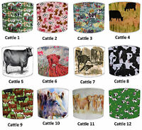 Lampshades Ideal To Match Highland Cattle Cow Bedding Sets & Duvets Covers.