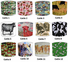 Highland Cows Designs Lampshades Ideal To Match Highland Cows Cushions & Covers.
