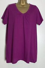 Evans Purple Cotton Jersey Top Size 16 New