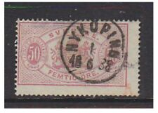 Sweden - 1881/4, 50 Ore Pink/Rose Official (PERF 13) - used-SG o39a/c