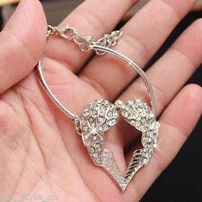 Angel Wings & Silver Bracelet Bangle Women Gifts for Her Girls Lady Wife J134A