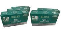 5 BOX KORONA MENTHOL SLIM 5x120 Empty Cigarette