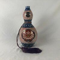 "Japanese Imari Double Gourd Porcelain Vase Floral Design 9.5"" ca: early 1900's"