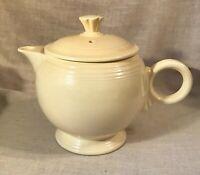 Vintage Fiestaware Large Covered Teapot Ivory (Cream) Fiesta