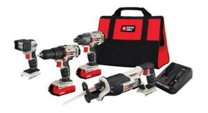 PORTER-CABLE PCCK616L4 Power Tool Kit - New - Drill, Impact Driver, Recip, Light