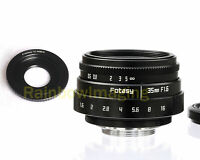 35MM APS-C F1.6 TV Lens + Adapter for Sony E-Mount a6000 a5000 a3500 a3000 a6500