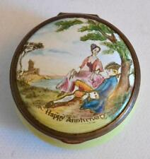 18th Century Manner Bilston and Battersea English Enamels Cartier Trinket Box