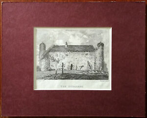 E. Dayes del. The Dungeons Vintage Small Print in Card Frame