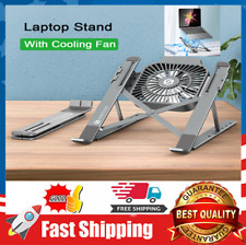 Adjustable Laptop Bed Table Stand With Cooling Fan Tray Foldable Portable
