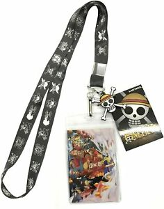 One Piece Luffy Pirate Flag Anime Lanyard Neck Strap Id Holder