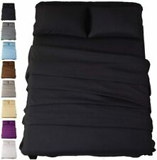 Fitted Bed Sheet Queen King Microfiber 1900 Series 14 Deep Pocket Wrinkle Free