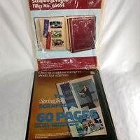 "Vintage UNOPENED Springfield Scrapbook and 6569F Filler Paper 11.75""x14"""