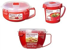 3 Pcs Sistema Healty Soup Breakfast Porridge Noodle Bowl To Go Plastic Klip it