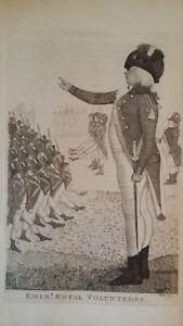 1794 SATIRICAL PRINT JOHN KAY - EDINBURGH ROYAL VOLUNTEERS COL. PATRICK CRICHTON