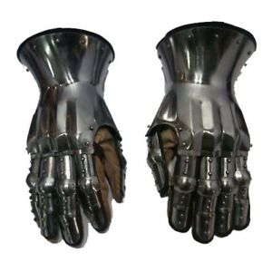 Hourglass Gauntlets 16G Medieval Functional Metal Gloves Large Size SCA LARP