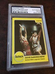 PSA DNA Signed 1984 - 1985 Schlick Star '85 Dave DeBusschere New York Knicks .