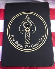"CIA NCS / DO ""Here Begins The Great Game"" Black Leather Portfolio"