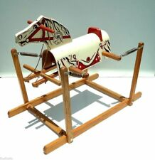 Antique Vtg Early RICH TOYS Davy Crockett Spring Rocking Horse Rare