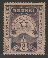 BRUNEI 1895 Star & Local Scene 8c plum MH VF / N5747