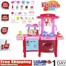 Kitchen Play Set Pretend Baker Kids Toy Cooking Playset Girls Food Gift Birthday