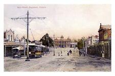 Victoria EAGLEHAWK Main St Trams c1910 modern Digital Photo Postcard