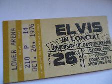 ELVIS PRESLEY Original 1976 CONCERT TICKET STUB - Dayton, OH