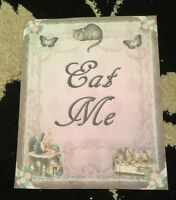 alice in Wonderland Eat Me Paper Party Signs birthday/Wedding decorations