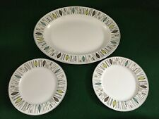 "ALFRED MEAKIN RETRO DESIGN CORINTH ~ 12"" x 9½"" SERVING PLATTER & 2 SIDE PLATES"