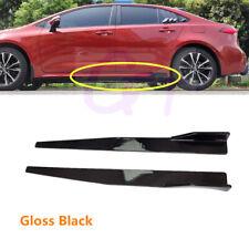 Fit For Toyota Corolla 2020-2022 Black Side Skirt Rocker Panel Body Left+Right