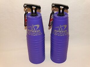 2 Sets Of 12 Purple Speed Stacks With Quick Release Stems Sport Cup Stacking