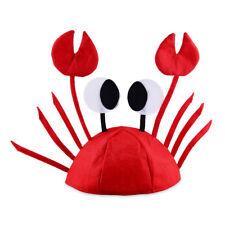 Adult/Kid's Felt Crab Lobster Sea Animal Cute Cap Hat Party Funny Accessory