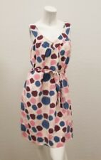 Marc by Marc Jacobs Pink Purple Ivory Blue Abstract Shift Dress Size S