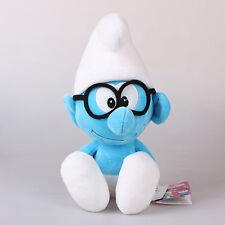 "15"" 38Cm Brainy Smurf Licensed The Smurfs Plush Toys Soft Stuffed Animal Doll"