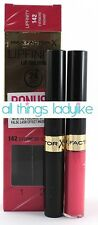 MAX FACTOR Lipfinity Lipstick x 2  142 EVERMORE RADIANT Pink 24hr long lasting