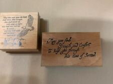 Rubber Stamps Lot of 2 Sayings-Comfort/ Sympathy