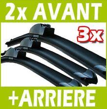 3 BALAIS D'ESSUIE GLACE FLEXIBLE AVANT + ARRIERE RENAULT CLIO 2 II 1998-05.2005