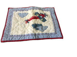 POTTERY BARN KIDS Quilted Blue CRIB SIZE Small Pillow Sham NEW