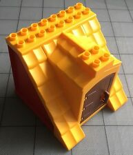 Lego Duplo Replacement parts House Barn Roof Support Yellow Red / Brown Door