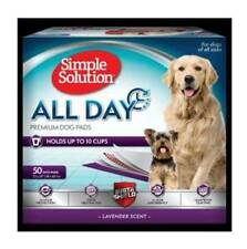 """Simple Solution All Day Premium Dog pads 23x24"""" case of 50 scented"""