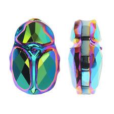 Swarovski Crystal, #5728 Scarab Bead 12mm, 1 Piece, Crystal Scarabaeus Green 2X