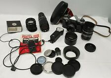 Praktica Super TL Camera & Accessories Includes Lenses & Flashes #497