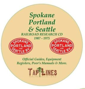 SPOKANE PORTLAND & SEATTLE RR OFFICIAL GUIDES, EQUIP REGISTERS & RESEARCH ON CD