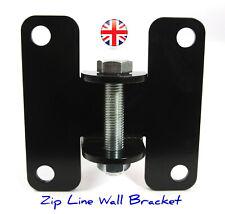 Zip Line Wall Bracket 6mm H/D steel Plate