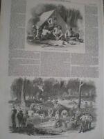 Australia gold dig Mount Alexander Port Phillip Ballarat 1852 prints ref AV
