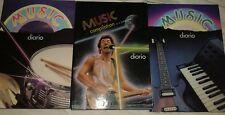 Lotto 3 DIARIO SCOLASTICO VINTAGE MUSIC COMPILATION PERSUADER MALIPIERO EDITORE