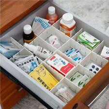 Necessities DIY Grid Storage Organizer Plastic Drawer Separator  Divider